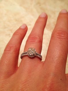 Beautiful130 CTW SI E Oval Diamond Engagement ring in 14 by Mymink, $2000.00