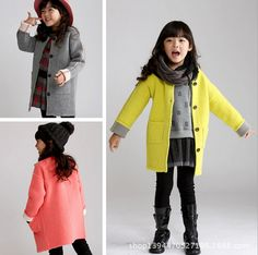 $29.80 (Buy here: https://alitems.com/g/1e8d114494ebda23ff8b16525dc3e8/?i=5&ulp=https%3A%2F%2Fwww.aliexpress.com%2Fitem%2Fgirls-jacket-children-s-clothing-big-kids-spring-autumn-child-medium-long-2015-baby-outerwear-girl%2F32547028532.html ) Children Wool Coats For Girls Thicken Warmer Girl Overcoat Plaid Kids Winter Fashion Wool Jackets Baby Girl Clothing for just $29.80