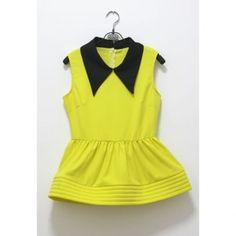 Women's Retro Style Doll Collar Sleeveless Summer Blouse