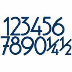 "3"" House Numbers Character: Half, Mount: Adhesive, Finish: Bonita Blue by HouseArt. $20.58. 0333-adh-bb-half Character: Half, Mount: Adhesive, Finish: Bonita Blue Features: -House numbers.-Mounting options include 0.19"" spacers for a three-dimensional mounting or industrial adhesive for a flat installation.-Installation template provided with standoff mount.-Rare punctuation and special characters available. Construction: -Constructed from 100pct architectural grade..."
