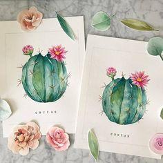 Watercolor Fruit, Watercolour Painting, Watercolor Flowers, Watercolors, Desert Art, Southwest Art, Instagram Artist, Plant Art, Art Sketchbook