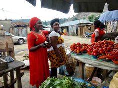 Neighborhood Produce Market, Ushafa Village, Abuja, Nigeria, #JujuFilms