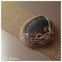 wire wrap and crochet bracelet