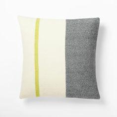 Faribault Wool Pillow Cover, Border Stripe , 20x20. $69