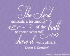 Share it with Others. President Dieter F. Uchtdorf. The Church of Jesus Christ of Latter-Day Saints.