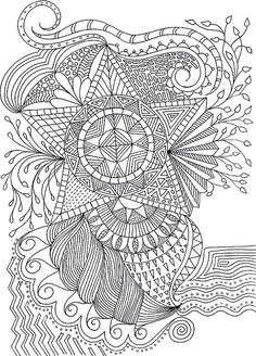 To print this free coloring page «coloriage-adulte-fleurs-etoile Coloring Pages For Grown Ups, Coloring Book Pages, Printable Coloring Pages, Coloring Sheets, Doodle Coloring, Mandala Coloring, Doodles Zentangles, Zentangle Patterns, Arte Mehndi