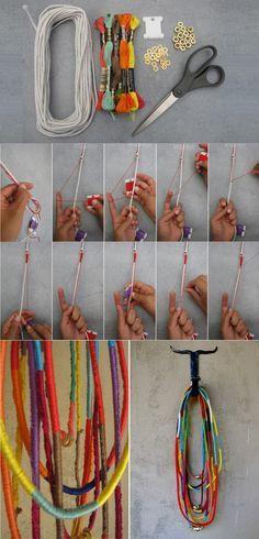 Instrucciones para collares y pulseras con hilo Más