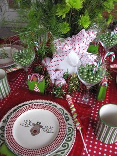 Holiday table for kids.
