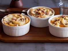 One of my favorite cold weather comfort foods, yummmm!!!!  Individual Turkey Shepherd's Pie from FoodNetwork.com