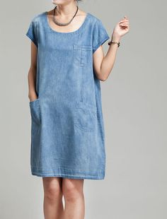 Summer dress Simple Babydoll Cotton Shirt dress by MaLieb on Etsy, $75.00