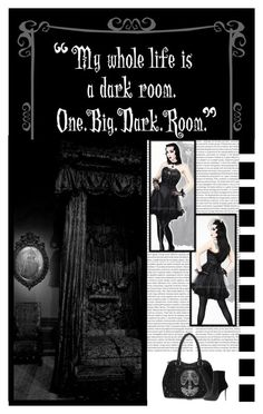 The Gothic Catwalk (43) by irresistible-livingdeadgirl ❤ liked on Polyvore featuring Oris, Balmain, black, emo, goth, gothic and alternative