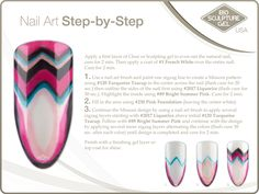 Missoni step-by-step Bio Sculpture Nails, Zigzag Line, Sculpting Gel, Nail Art Brushes, Sculpture Ideas, Nail Stuff, Nail Art Galleries, Natural Nails, Missoni