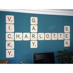 Giant Scrabble Wall Letter