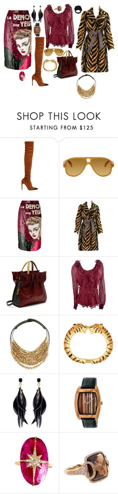 """""""Tan and Black"""" by jeniferkcarsrud ❤ liked on Polyvore featuring Givenchy, Acne Studios, Olympia Le-Tan, Versace, Mulberry, Oscar de la Renta, Fairchild Baldwin, Kenneth Jay Lane, Earth and Nush"""