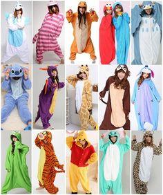 Unisex Pajamas Kigurumi Adult Anime Cosplay Pyjamas Costume Animal Onesies S~XL | eBay