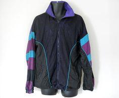 Men Windbreaker Jacket 80s Windbreaker 90s by TheVilleVintage, $25.00