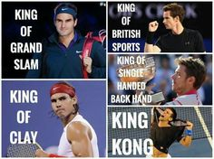 Roger Federer, Rafael Nadal, Andy Murray and Stan Wawrinka pictured here. 2/11/2015 ... Unfortunately, Kong is not recognized as World Tennis Association legal terminology.