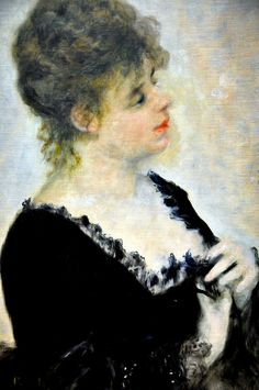 Pierre Auguste Renoir - Portrait of Young Woman, 1876 at Neue Pinakothek Munich Germany