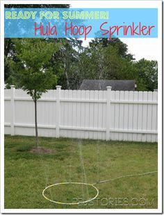 Ready 4 Summer: Hula Hoop Sprinkler on PBJstories.com