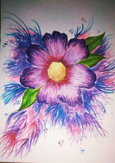 Watercolour flower