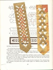 paper cutting & folding bookmark