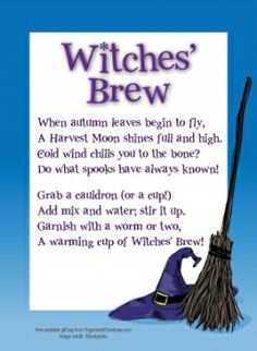 Witches Brew Gift Tag