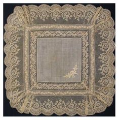 Antique lace hankies: uploaded by frannieredman Antique Lace, Vintage Lace, Vintage Handkerchiefs, Linens And Lace, Heirloom Sewing, Lace Embroidery, Lace Making, Lace Fabric, Crochet Lace