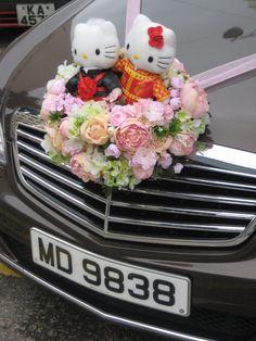 Wedding Car Decoration HK style.