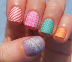 #washitape inspired #nails  #manicura inspirada en las cintas washi tape