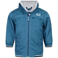 BOSS Boys Blue Zip Up Jacket