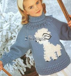 Tina's handicraft : 45 knitting designs for babies Fair Isle Knitting Patterns, Knitting Designs, Knit Patterns, Knitting For Kids, Baby Knitting, Cute Toddler Girl Clothes, Baby Girl Birthday Dress, Designer Baby Clothes, Baby Sweaters