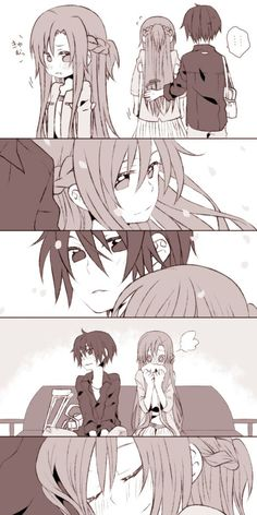 Kirito and Asuna   _Sword Art Online