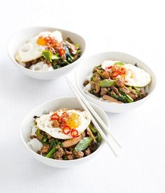 For a quick and easy mid-week meal you can& look past this tasty Asian-inspired noodle dish. Small Food Processor, Food Processor Recipes, Asian Recipes, Healthy Recipes, Ethnic Recipes, Healthy Foods, Noodle Dish, Rice Noodles, Asian Cooking