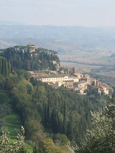 Cetona, Siena, Tuscany, Italy! That villa on the top, La Rocca, was our villa on our trip to Italy.  It was like being in a dream.