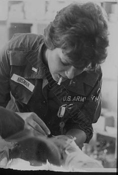 U.S. Army nurse. Image courtesy of the Barbara Bates Center for the Study of the History of Nursing.