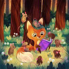 Illustration Mignonne, Children's Book Illustration, Character Illustration, Illustration For Children, Cute Animal Illustration, Animal Illustrations, Art Mignon, Animal Books, Graphic