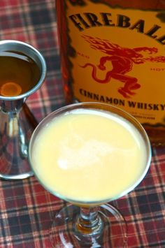 Pumpkin Fireball~2 ounces Fireball Cinnamon Whisky 2 ounces Fulton's Harvest Pumpkin Pie Cream Liqueur 1 teaspoon vanilla simple syrup* ~*To make vanilla simple syrup, boil one cup water with one cup sugar and a whole, vanilla bean for 10 minutes. Reduce temperature and simmer for 15 more minutes or until sugar has entirely dissolved. Rim/brown sugar. Shake all ingred/ice. Garnish/cinnamon stick.