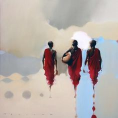 "Masai Memories by Peter Pharoah (On my board ""Art for my Heart II"". - by Cris Figueired♥ African Art Paintings, African Artwork, Afrique Art, Kunst Online, South African Artists, Art Africain, African American Art, African Image, Afro Art"