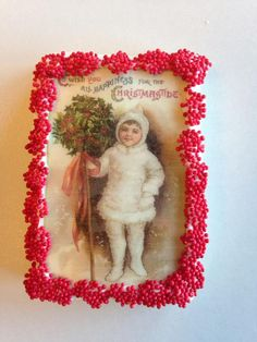 Vintage Christmas Cookie with edible paper