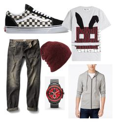 """bored"" by darrick-howard-ii on Polyvore featuring Vans, McQ by Alexander McQueen, MANGO, Armani Exchange, Coal, Express, men's fashion and menswear"