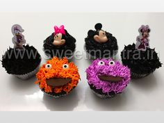 Homemade Eggless 3D/Custom Minnie, Mickey, Monster cookie theme cupcakes at Kidzee Chocolate Festival, Baner