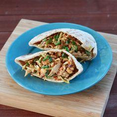 Thai Chicken Salad Pitas