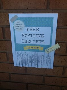 positive thought sign