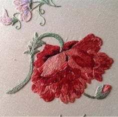 ♒ Enchanting Embroidery ♒ embroidered poppy