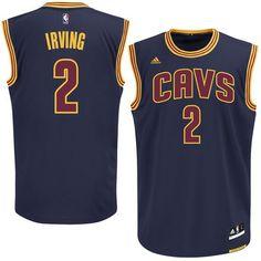 Kyrie Irving Cleveland Cavaliers adidas Alternate Replica Jersey - Navy Blue a35a93971