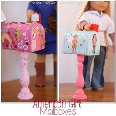 Over 60 Amazing American Girl Doll Crafts and Ideas American Girl Doll craft to make mailboxes for your dolls. : Over 60 Amazing American Girl Doll Crafts and Ideas American Girl Doll craft to make mailboxes for your dolls. American Girl Outfits, American Girl House, American Girl Crafts, American Doll Clothes, American Girls, American Girl Storage, Muebles American Girl, Cosas American Girl, Crafts For Girls