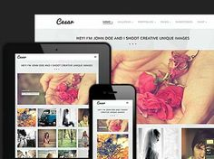Responsive Wordpress template for photographers and graphic designer portfolios.