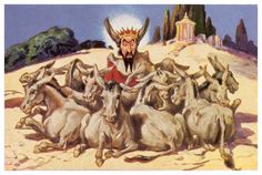 This image represents king Midas after receiving donkey ears from Apollo for disagreeing that Apollo won the musical competition against Pans. Citation: Brian Sloan, Greek Mythology: King Midas and his Donkey Ears, Norse Mythology, Greek Mythology, Donkey Images, Portal, King Midas, Image Shows, Musicals, Ears, Apollo