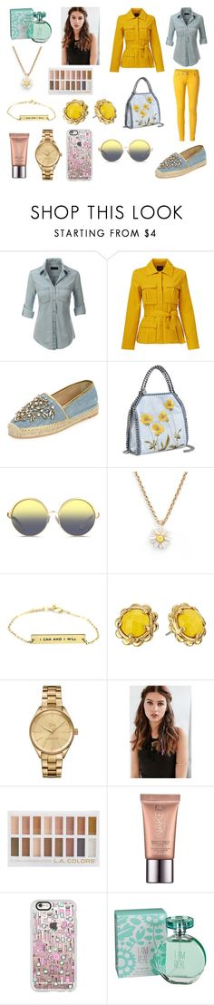 """Sem título #595"" by amorasilvestre ❤ liked on Polyvore featuring LE3NO, TY-LR, René Caovilla, STELLA McCARTNEY, Matthew Williamson, Kate Spade, Lacoste, REGALROSE, Urban Decay and Casetify"