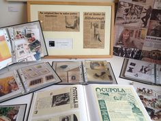 Some of our archive material currently on display @cupolagallery as part of #HODs #sheffield. First group of happy visitors sorted! #sheffieldissuper